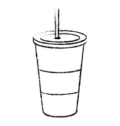 Soda drink in plastic cup vector