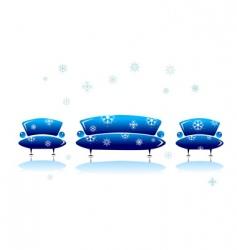 sofa and armchair christmas design vector image