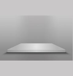 square podium isolated vector image