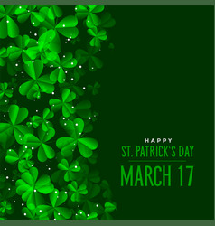 St patricks day green leaves background vector