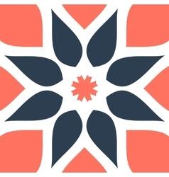 Stylized oriental flower seamless tile for vector