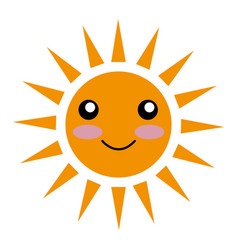 Sun character ecology symbol icon vector