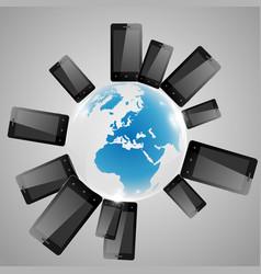telephones around the world vector image