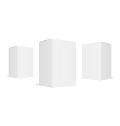 three white blank boxes vector image