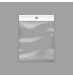 Transparent Plastic Pocket Bag with Hang Slot vector