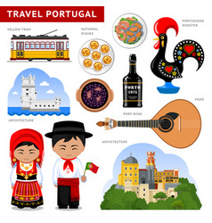 travel to portugal portugueses in national dress vector image