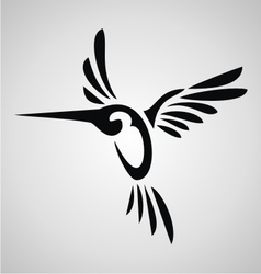 Tribal Humming bird vector