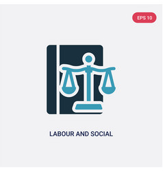 Two color labour and social law icon from law and vector