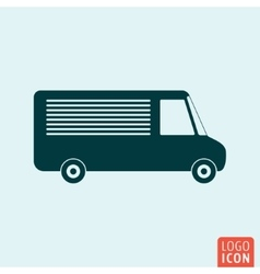 Vehicle icon isolated vector image
