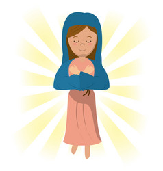 Virgin mary blessed prayer image vector