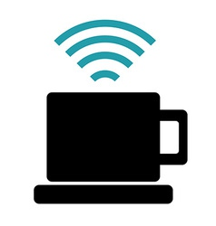 Wi-fi design vector image