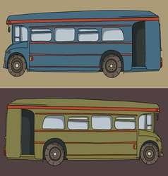 Cartoon bus cute design drawing vector image