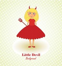 Cute Little Devil Background vector image