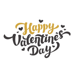 happy valentines day lettering 14th of february vector image vector image