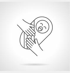Newborn baby flat line icon vector
