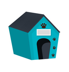 pet wooden house icon vector image vector image