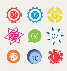 Set of number in variety shape vector image vector image