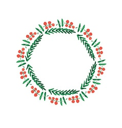 Christmas frame new year wreath vector image