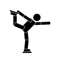 figure skating flat icon vector image