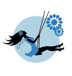 silhouette of a woman on a swing vector image vector image