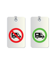 truck traffic sign vector image vector image