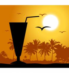 cocktail party on the beach vector image