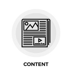 Content line icon vector