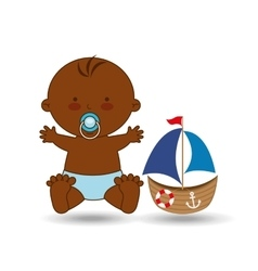 cute baby afro toy design vector image