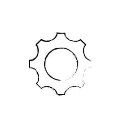 figure gear engineering industry process vector image