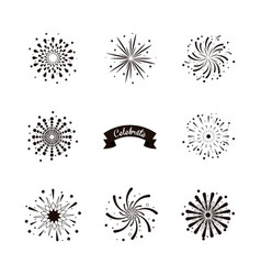 firework celebrations and congratulations vector image