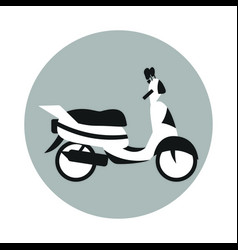 scooter icon vector image vector image