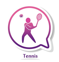 TennisB vector image