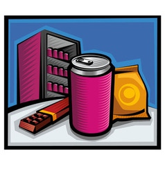cola and chocolate vector image