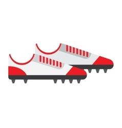 football boot flat icon vector image