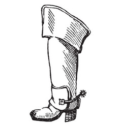 Jack-boot vintage engraving vector