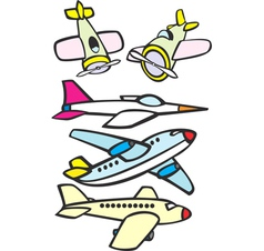 Mixed Toy Aircraft vector image vector image