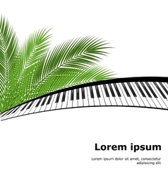 palm branch and piano template vector image