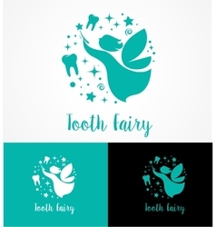 Tooth Fairy with magic wand - make a wish vector image