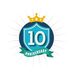 Aniversary card icon design vector