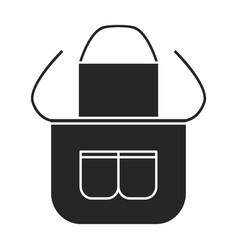 Apron iconblack icon isolated vector