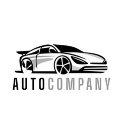 auto logo sport car design concept vector image