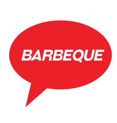 Barbeque rubber stamp vector