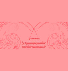Beautiful banner with flowers vector