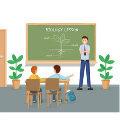biology lesson flat young vector image