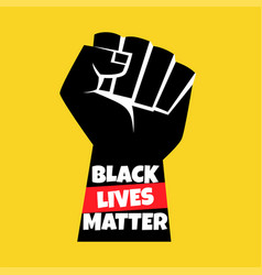 Black lives matter protest vector
