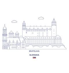 Bratislava city skyline vector