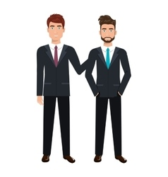 Businesspeople characters avatars isolated vector