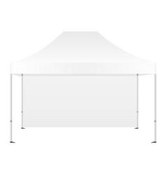 Canopy tent with one wall vector