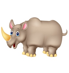 Cartoon rhinoceros vector