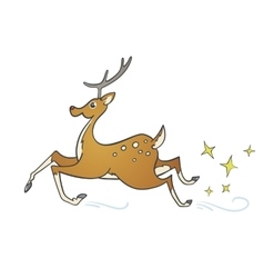 Cartoon spotted deer vector